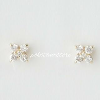 PonteVecchio - 美品【ポンテヴェキオ】K18YG ダイヤモンド 0.40ct  フラワー ピアス
