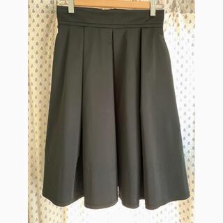 フォクシー(FOXEY)のFOXY フォクシー タックフレアー スカート 黒(ひざ丈スカート)