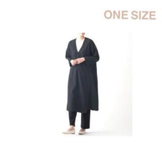 ムジルシリョウヒン(MUJI (無印良品))の無印良品    ダブルガーゼ 羽織り ONE SIZE・黒(ロングコート)