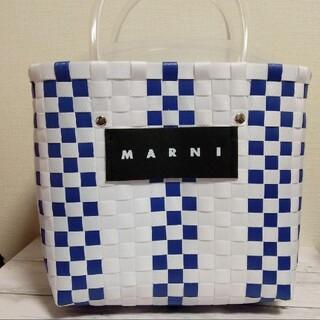 マルニ(Marni)の新品   かごバッグ ホワイトバッグ かご 白 人気 マルニ(かごバッグ/ストローバッグ)