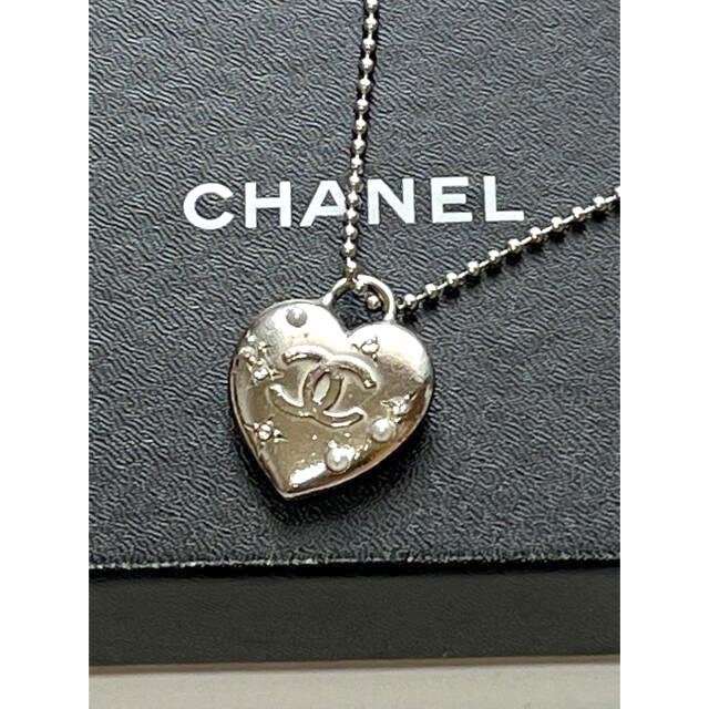 CHANEL(シャネル)のCHANELマドモアゼルハートネックレス  トップ レディースのアクセサリー(ネックレス)の商品写真