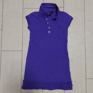 ポロラルフローレン(POLO RALPH LAUREN)のラルフローレン 女の子 ワンピース キッズ 5歳 100 紫色 パープル 中古(ワンピース)