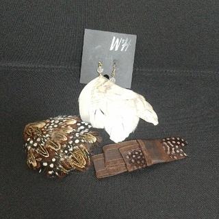エイチアンドエム(H&M)の羽セット セレクトショップ ヘア飾り H&M 羽ピアス(ピアス)