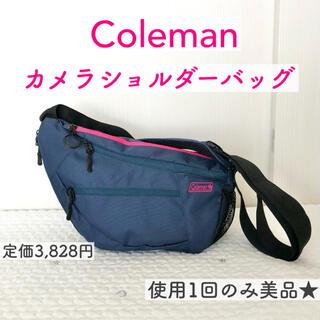 Coleman - 美品★Coleman コールマン カメラバッグ カメラショルダーバッグ ネイビー