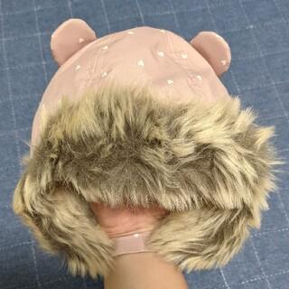エイチアンドエム(H&M)の【タグ付き新品】H&M くま耳ベビー冬用帽子(帽子)