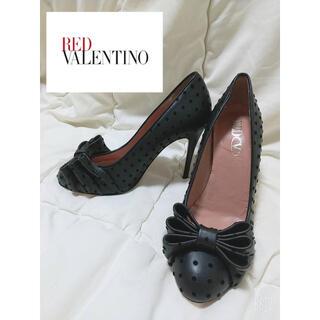 RED VALENTINO - 【美品】RED VALENTINO リボン ドット ブラック
