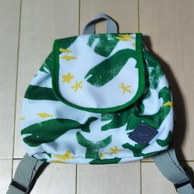 hakka kids(ハッカキッズ)のhakka   kids リュックキッズリュック クジラ柄 ホエール数回しか キッズ/ベビー/マタニティのこども用バッグ(リュックサック)の商品写真