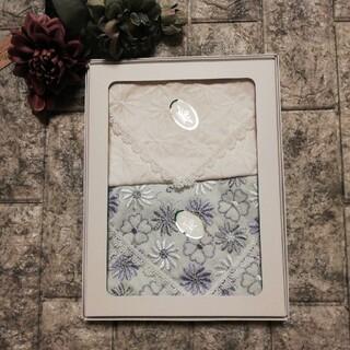 TOCCA - 新品シール付 TOCCA トッカ 刺繍ハンカチ 27×27 2枚組