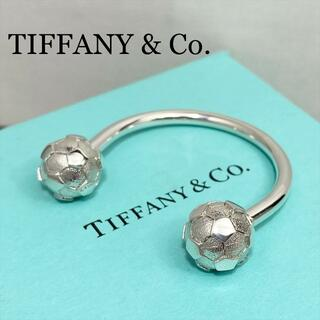 Tiffany & Co. - 新品仕上 ティファニー キーリング サッカー ボール シルバー 925