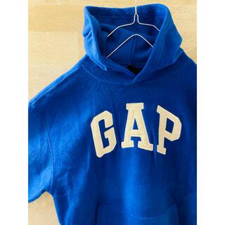 ギャップ(GAP)のOLD GAP オールドGAP 青 プルオーバーパーカー ワッペンロゴゆるダボ(パーカー)