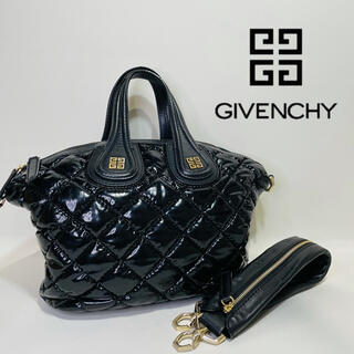 GIVENCHY - 【GIVENCHY】ジバンシー 2way ハンドバッグ ショルダーバック 金ロゴ
