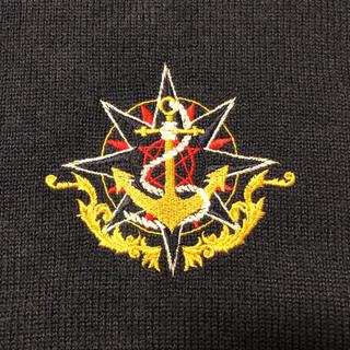 ポロラルフローレン(POLO RALPH LAUREN)のF.J.K CLUB 90s イカリ刺繍パネルボーダービッククルーニット(ニット/セーター)