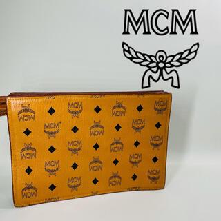 エムシーエム(MCM)の【MCM】クラッチバック モノグラム 美品 ユニセックス 男女兼用 (クラッチバッグ)
