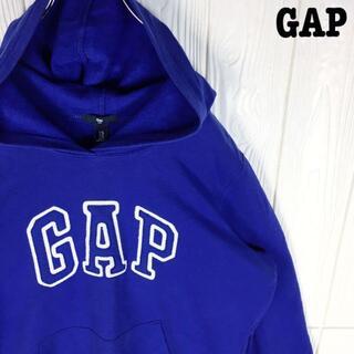 ギャップ(GAP)のギャップ スウェットパーカー 刺繍ワンポイントロゴ プルオーバー 裏起毛90s(パーカー)