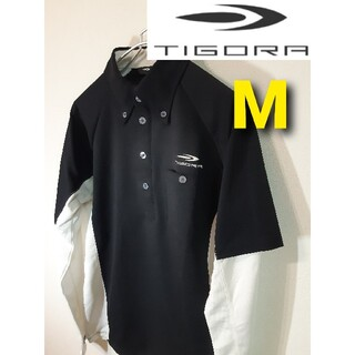 ティゴラ(TIGORA)の【TIGORA】長袖ゴルフウェア/スリーブロゴ/ボタンダウン/アームカバー一体型(ウエア)