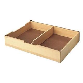 ムジルシリョウヒン(MUJI (無印良品))の無印良品 木製ベッド用 下収納 ボックス仕切り付き パイン材(その他)