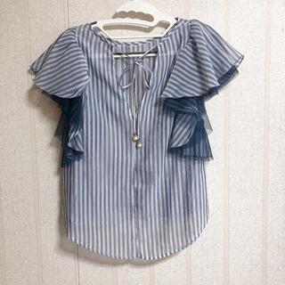 ココディール(COCO DEAL)のココディール ストライプ  トップス(シャツ/ブラウス(半袖/袖なし))