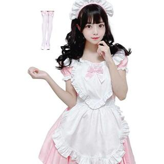 可愛い♡メイド服♡ピンク ロリータ L(衣装一式)
