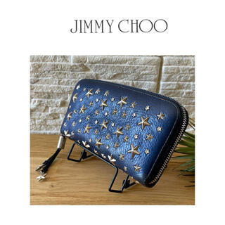 ジミーチュウ(JIMMY CHOO)のJIMMY CHOO ジミーチュウ フィリッパ 長財布  ネイビー(財布)