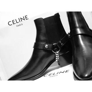 celine - CELINE バイカー チェルシーブーツ ベジタルカーフスキン