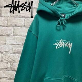 STUSSY - 【人気カラー】STUSSY ステューシー パーカー メンズL 刺繍ロゴ 未使用