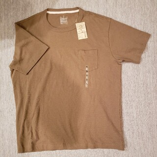 MUJI (無印良品) - 新品☆無印良品 太番手 天竺編み ポケット付き半袖Tシャツ ベージュ XLサイズ