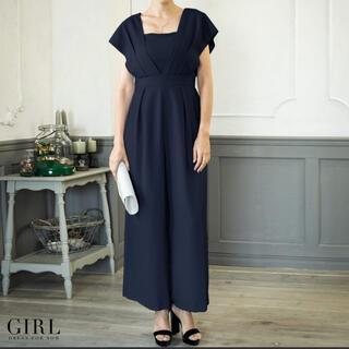 ガール(GIRL)の【美品】GIRL パンツドレス オールインワン☆サイズL(ロングドレス)