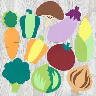 ハーフバースデー 野菜 壁面飾り キューピーハーフバースデー