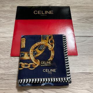celine - セリーヌハンカチネイビー