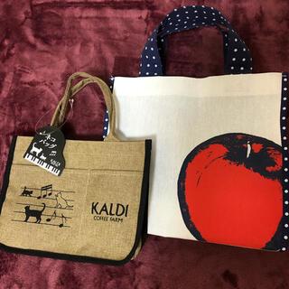 KALDI - カルディ ネコバッグ&りんごバッグ