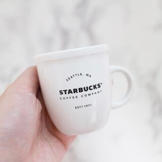 スターバックスコーヒー(Starbucks Coffee)の【新品】台湾スターバックス デミタスカップ 3OZ マグカップ ホワイト 白(グラス/カップ)
