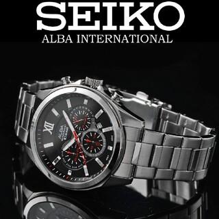 ALBA - セイコー ALBA メンズ腕時計 クロノグラフ 新品 海外限定 日本未発売