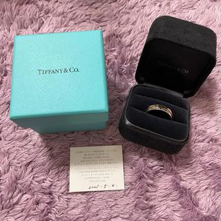 Tiffany & Co. - ティファニー Tワイド リング スターリングシルバー&18k ローズゴールド
