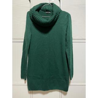 H&M - 【美品】ロング丈ニット 緑 みどり グリーン