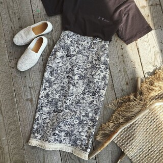 IENA SLOBE - フリンジタイトスカート