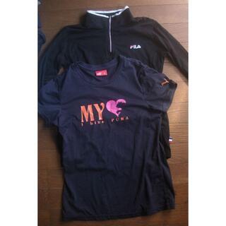プーマ(PUMA)の2点セット M PUMA  FILA  シャツ(Tシャツ(半袖/袖なし))