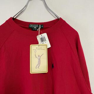 ラルフローレン(Ralph Lauren)の新品 80s POLO Ralph Lauren スウェット 緑タグ 赤(スウェット)
