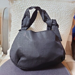 agnes b. - アニエスベーボヤージュ ラメ生地ミニトートバッグ 黒