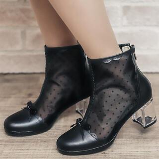 アクシーズファム(axes femme)のドットチュールブーツ(ブーツ)