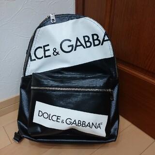 ドルチェアンドガッバーナ(DOLCE&GABBANA)のドルチェ&ガッバーナ ロゴバックパック ブラック(バッグパック/リュック)