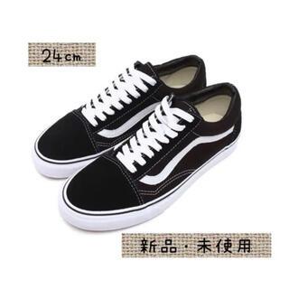 VANS - Vans Old Skool Black White  バンズオールドスクール黒