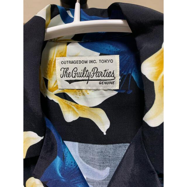 WACKO MARIA(ワコマリア)のワコマリア ユリ柄 アロハシャツ 限定 Mサイズ ブラック×ブルー メンズのトップス(シャツ)の商品写真