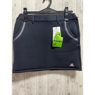 adidas - 新品 Mサイズ 黒 アディダス レディス スウェット スカート ゴルフ秋冬モデル