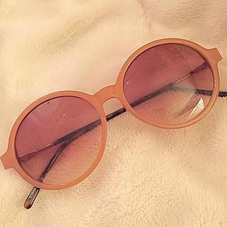 ハニーミーハニー(Honey mi Honey)の海外購入 流行の くすみピンク カラー サングラス レトロ ヴィンテージ(サングラス/メガネ)