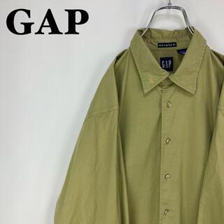 ギャップ(GAP)のギャップ☆オールドギャップ 90年代 ビンテージ グリーン緑 長袖 LSシャツ(シャツ)