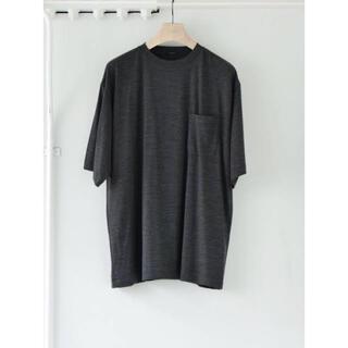 COMOLI - 21SS COMOLI ウール天竺Tシャツ  チャコール