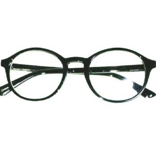 新品 送料込み 丸眼鏡 デザイン 伊達メガネ ブラック 黒縁  UVレンズ 付き
