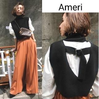 Ameri VINTAGE - Ameri【美品】ニットベスト&シャツドッキング