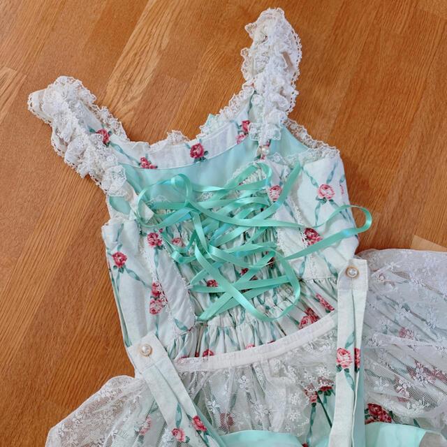 Angelic Pretty(アンジェリックプリティー)の【9/28まで】サロンドテローズ ミントJSK レディースのワンピース(ひざ丈ワンピース)の商品写真