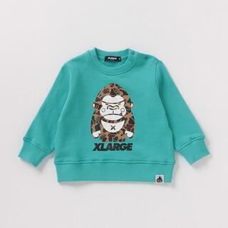 エクストララージ(XLARGE)のXLARGEキッズ 裏毛トレーナー(Tシャツ/カットソー)
